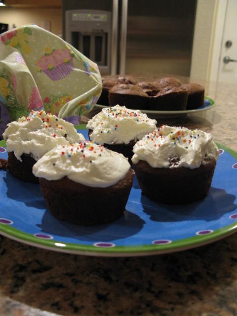 Chocolate Apricot cupcakes